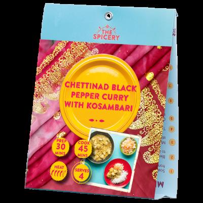 Chettinad Black Pepper Curry with Kosambari