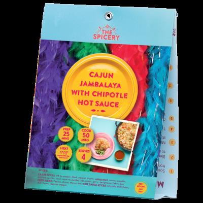Cajun Jambalaya with Chipotle Hot Sauce