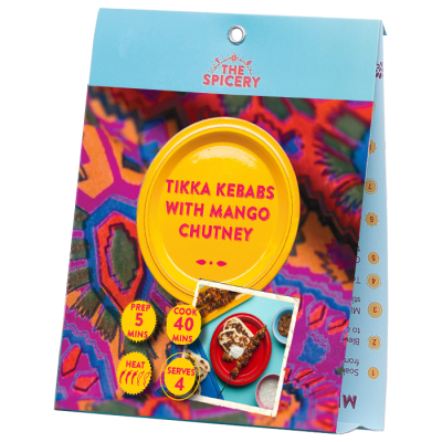 Tikka Kebabs with Mango Chutney