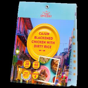 Cajun Blackened Chicken with Dirty Rice
