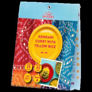 Konkani Curry with Yellow Rice