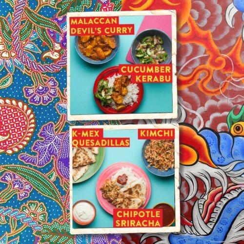 Malaccan Devil's Curry ~ K-Mex Quesadillas
