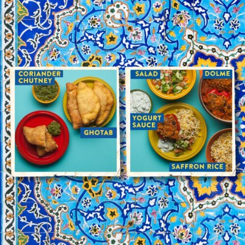 Lamb Ghotab --- Dolme with Shirazi Salad