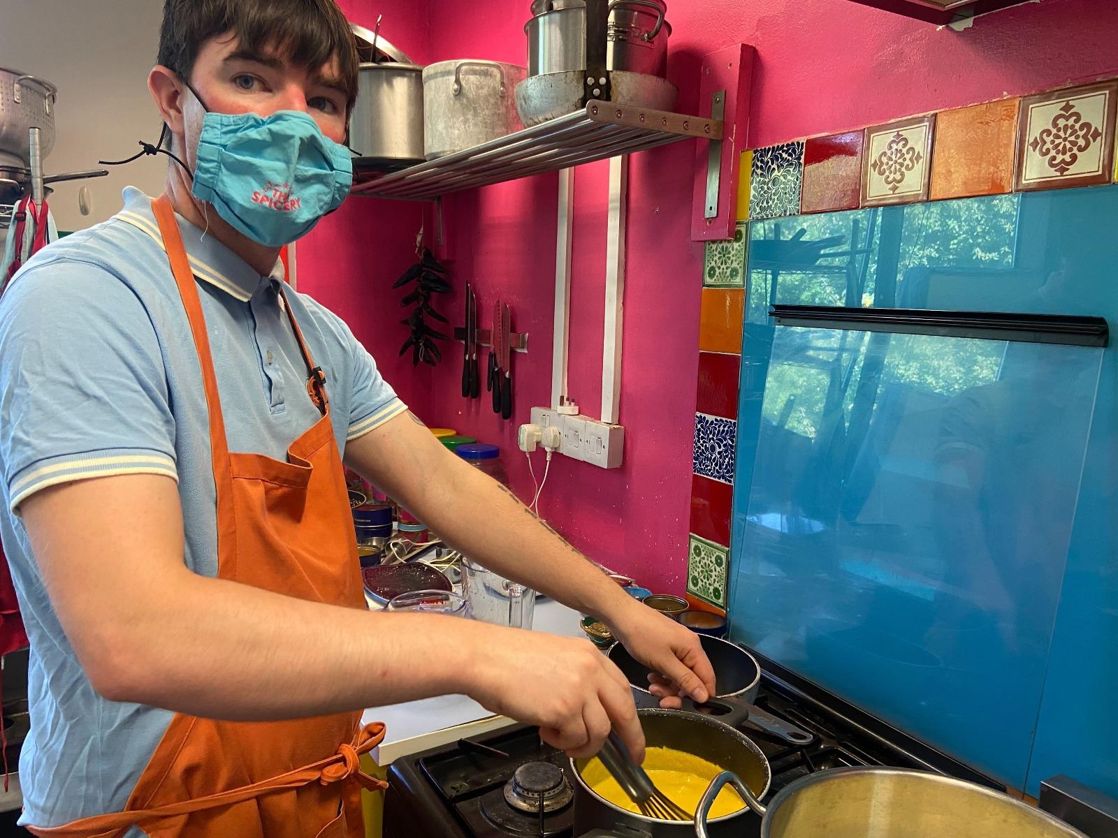 Adam cooking
