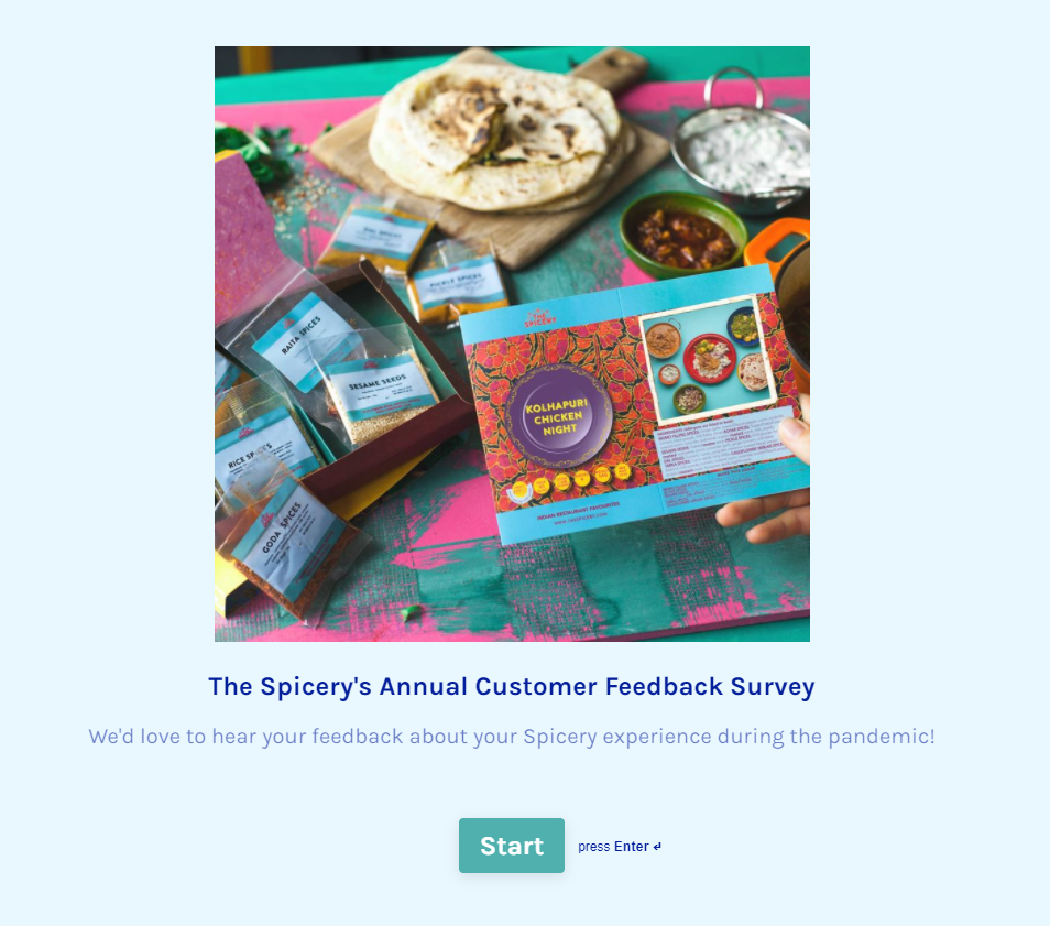 Customer survey 2020 start survey picture