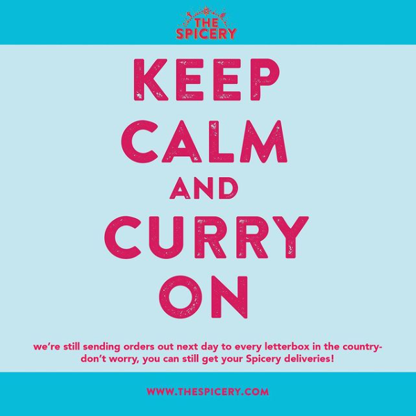 Instagram photo- keep calm and curry on